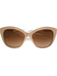 Dolce And Gabbana Cat Eye Frame Sunglasses Nude And Neutrals