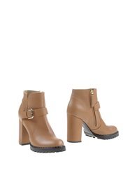 Vicini Tapeet Ankle Boots Camel