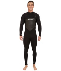 Xcel Wetsuits 4 3Mm X2 Axis Quickdry Full Suit All Black Silver Ash Logos Men's Wetsuits One Piece