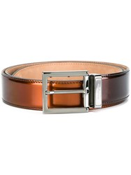 Salvatore Ferragamo Metallic Belt Brown