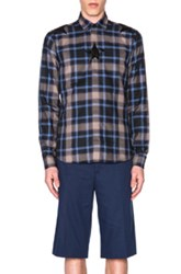 Givenchy Plaid Shirt In Blue Checkered And Plaid