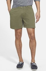 Men's Vintage 1946 'Snappers' Vintage Wash Shorts Army Green