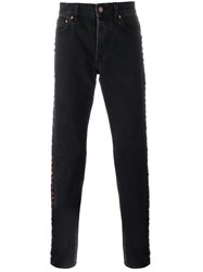 Givenchy Embellished Denim Jeans Black