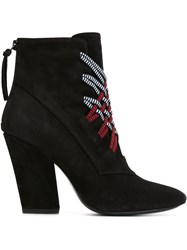Thakoon Addition Woven Detail Boots Black