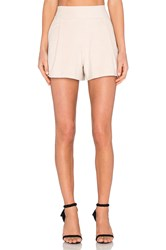1. State Flat Front Suede Short Beige