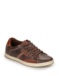 Steve Madden Peamont Leather Sneakers Dark Brown