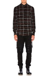 Amiri Suede Plaid Shirt In Red Checkered And Plaid Red Checkered And Plaid
