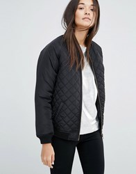 New Look Quilted Bomber Jacket Black