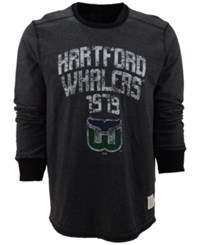 Retro Brand Men's Long Sleeve Hartford Whalers Crew Sweatshirt Black