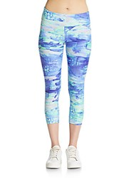 Calvin Klein Cropped Abstract Print Leggings Multicolor