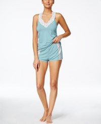 Flora By Flora Nikrooz Clara Knit Camisole And Short Set Soft Blue