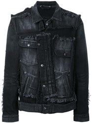 Miharayasuhiro Misplaced Denim Jacket Black