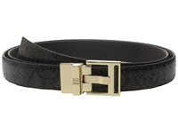 Ivanka Trump 25Mm Reversible Python To Smooth Belt Black Women's Belts