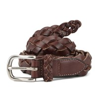 Scotch And Soda Men's Summer Woven Belt Tabacco