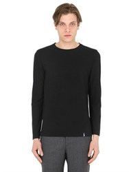 Drumohr Cotton Crepe Jersey Long Sleeve T Shirt