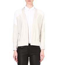 Reiss Milna Sheer Panel Cardigan White