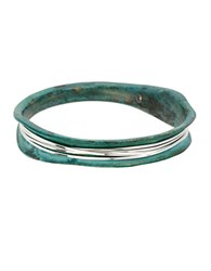 Robert Lee Morris Wire Wrapped Patina Bangle Bracelet Green
