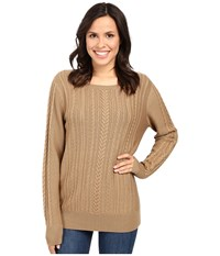 Pendleton Connie Cable Pullover Camel Women's Sweater Tan