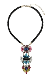 Topshop Jewelled Drop Rope Neckwear Multi