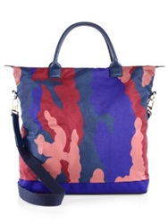 Want Les Essentiels Camo Shopper Tote Blue