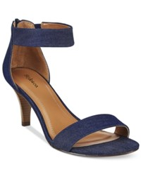 Styleandco. Style And Co. Paycee Two Piece Dress Sandals Only At Macy's Women's Shoes Denim
