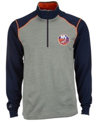 Antigua Men's New York Islanders Breakdown Quarter Zip Pullover