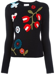 Red Valentino Floral Jumper Black