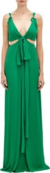 Thakoon Knotted Cutout Gown Green