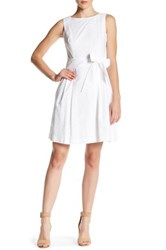 Anne Klein Embroidered Dress White