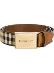 Burberry Horseferry Check Belt Brown