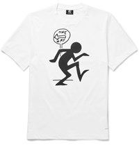 Paul Smith Printed Cotton Jersey T Shirt White