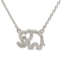 Giani Bernini Cubic Zirconia Elephant Pendant Necklace In Sterling Silver Only At Macy's