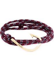 Miansai Hook Wrap Bracelet Red