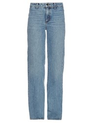 Helmut Lang High Rise Flared Jeans Light Blue