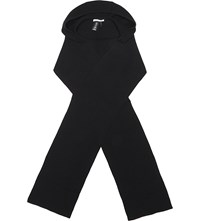 Helmut Lang Hate Wool And Cashmere Scarf Black