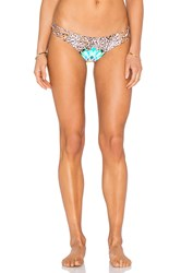 Sauvage Leopard Floral Spider Rio Bottom Brown