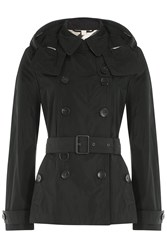 Burberry Brit Waterproof Trench Jacket With Hood Black