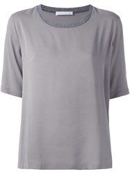 Fabiana Filippi Crew Neck T Shirt Grey
