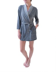 Roudelain Vintage Wash Kimono Robe Dark Heather