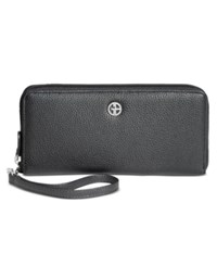 Giani Bernini Softy Slim Zip Around Wallet Only At Macy's Black