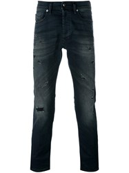 Diesel Distressed Jeans Blue