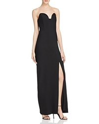 Nicole Miller Strapless Sweetheart Gown Black