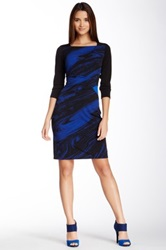 Muse Printed Dress Blue