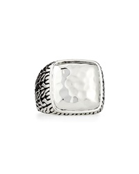 John Hardy Palu Hammered Sterling Silver Ring Size 10