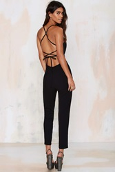 Nasty Gal Raquel Cross Back Jumpsuit
