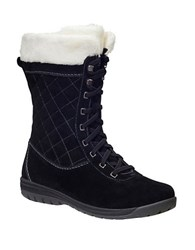 Helly Hansen Women's Eir 4 Faux Fur Lined Suede Boots Black