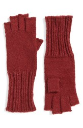 Caslonr Women's Caslon Knit Fingerless Gloves Red Cordovan
