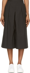 Ymc Black Pleated And Cropped Trousers