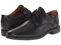 Clarks Un.Bizley Plain Black Leather Men's Lace Up Wing Tip Shoes