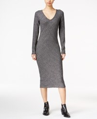 Bar Iii Ribbed Bodycon Dress Only At Macy's Silver